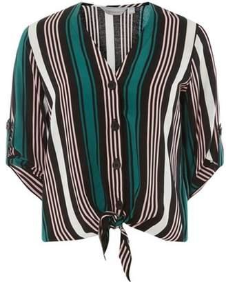 Dorothy Perkins Womens Petite Stripe Tie Top
