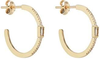 Jennifer Meyer Women's Pavé & Baguette Diamond Hoop Earrings