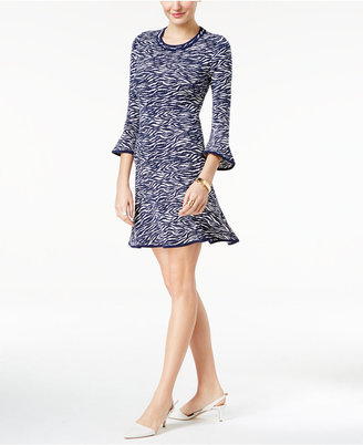 MICHAEL Michael Kors Printed Flounce Dress $98 thestylecure.com