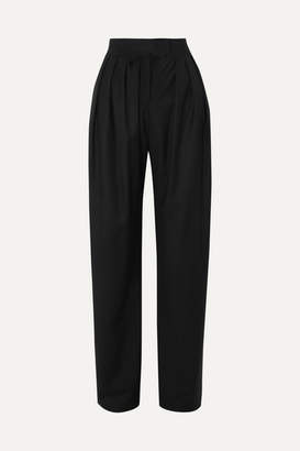 MATÉRIEL Pleated Wool Pants - Black