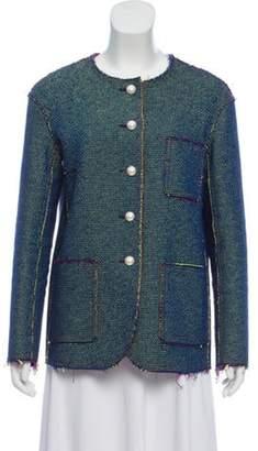 Chanel Tweed Collarless Jacket lime Tweed Collarless Jacket
