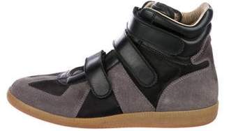 Maison Margiela Mesh-Trimmed High-Top Sneakers
