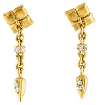 Paul Morelli 18K Diamond Drop Earrings