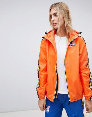 K-Way K Way X Kappa zip through rain jacket
