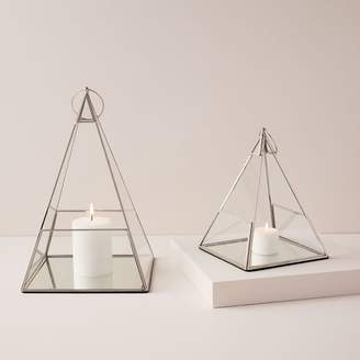 west elm Terrace Pyramid Lanterns - Polished Nickel