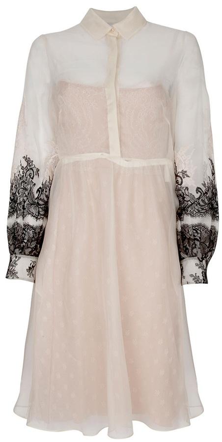 Valentino embroidered shirt dress