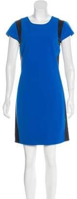 Diane von Furstenberg Pele Leather-Trimmed Dress