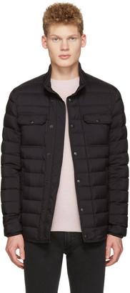 Moncler Black Down Faust Jacket $980 thestylecure.com