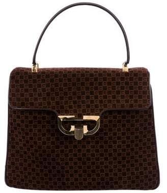 Gucci Vintage Suede Top Handle Bag