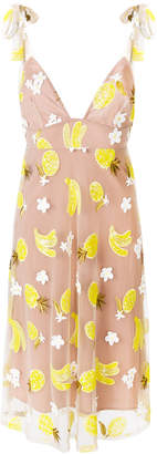 For Love & Lemons Fruitpunch embroidered dress