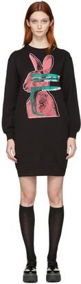 McQ Alexander McQueen Black Glitch Bunny Classic Dress $295 thestylecure.com