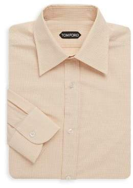 Tom Ford Micro Check Cotton Dress Shirt