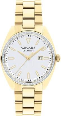 Movado Heritage Datron Diamond Bracelet Watch, 31mm