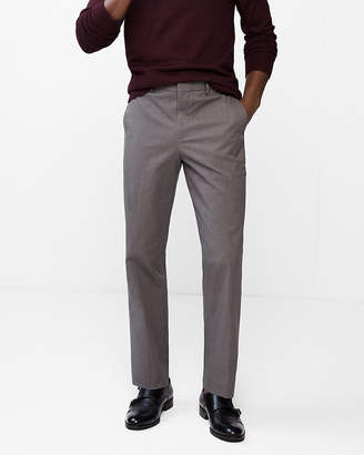 Express Relaxed Stretch Cotton Blend Heathered Dress Pant