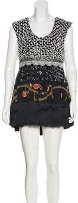 Manoush Fringe-Trimmed Mini Dress