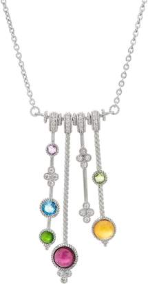 Judith Ripka Sterling Silver Multi-Gemstone Stick Necklace