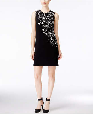 Calvin Klein Floral Laser-Cutout Sheath Dress, Regular & Petite Sizes