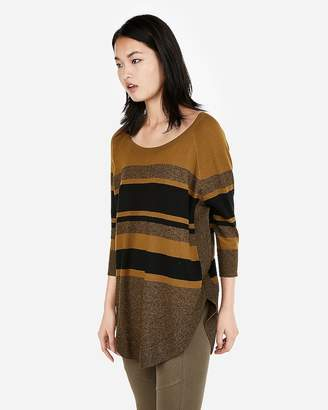 5b391c9224 Express Stripe Extreme Circle Hem Sweater