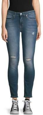 Calvin Klein Distressed Skinny Jeans