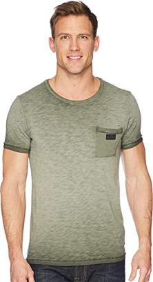 Scotch & Soda Men's Oil-Washed Tee with Cut and Sewn Styling