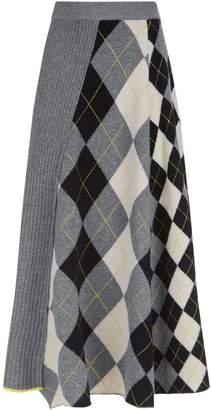Pringle Argyle Midi Skirt