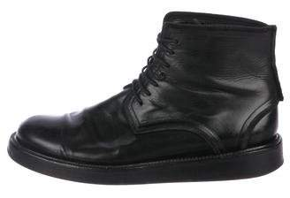 Christian Dior Leather Combat Boots