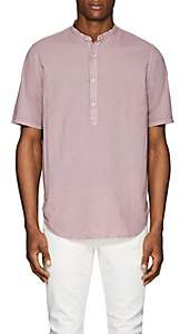Officine Generale Men's Washed Cotton Shirt - Lt. Purple