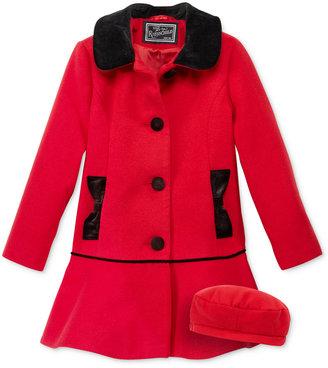 S. Rothschild 2-Pc. Hat & Velvet-Detail Coat Set, Toddler Girls (2-6X) & Little Girls (2-7) $84.98 thestylecure.com