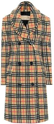 Burberry Vintage Check faux fur coat