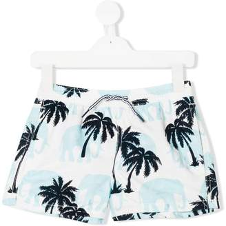 MC2 Saint Barth Kids tropical swim shorts