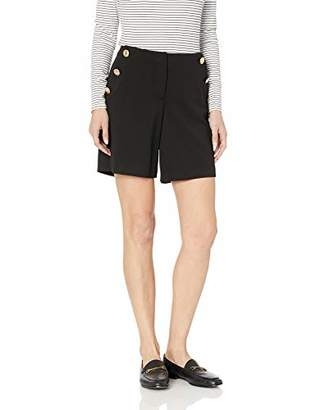 Calvin Klein Women's Shorts with Embossed Buttons