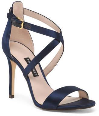 35bf92a2245 Navy Sandal Heel - ShopStyle