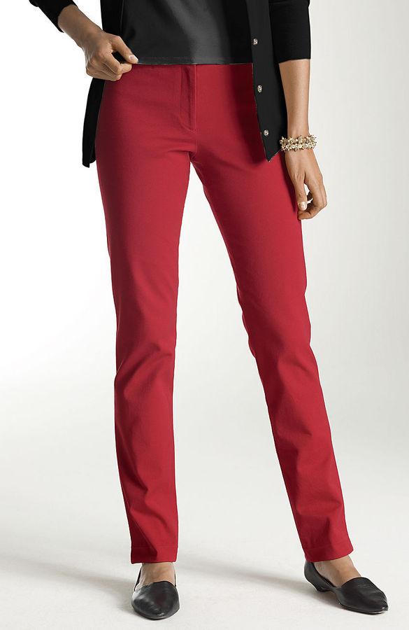 J. Jill Bi-stretch slim-leg pants
