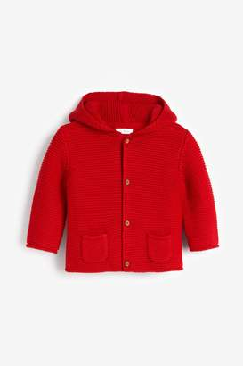 Next Red Hooded Cardigan (0mths-2yrs) - Red
