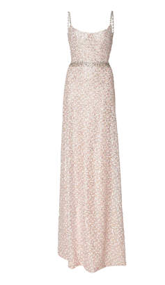 Markarian Rushworth Pink Sequin Gown