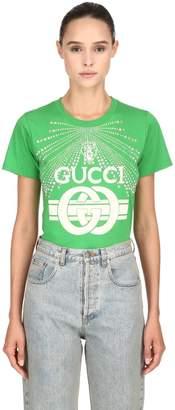 Gucci Embellished Cotton Jersey T-Shirt