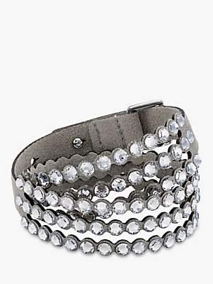 Swarovski Crystal Leather Wrap Bracelet