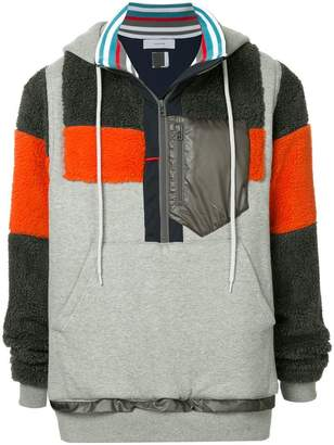 Facetasm color blocked hooded pullover