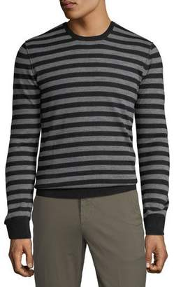 ATM Anthony Thomas Melillo Men's Striped Wool Crewneck Sweater