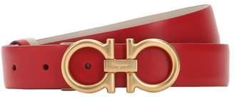 Salvatore Ferragamo 20mm Logo Leather Belt