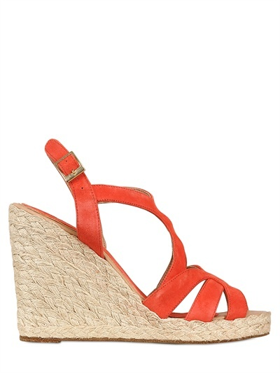 Paloma Barceló 110mm Suede Rope Sandal Wedges