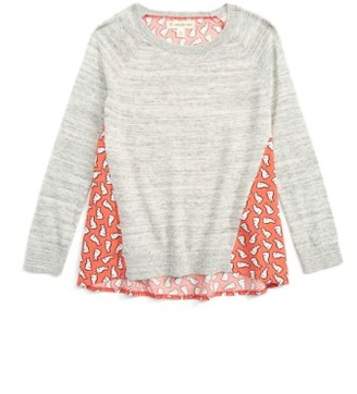Toddler Girl's Tucker + Tate Mixed Media Sweater $39 thestylecure.com