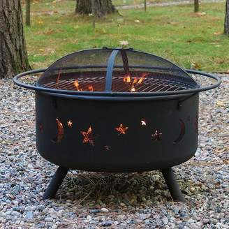 Wildon Home Steel Wood Fire Pit with Cooking Grill