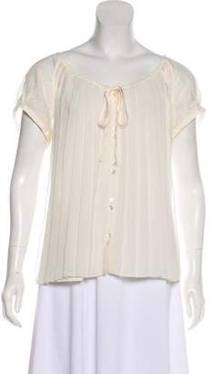Ted Baker Pleated Short Sleeve Blouse