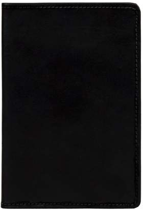MAHI Leather - Classic Leather Passport Cover in Ebony Black