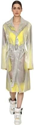 Maison Margiela Iridescent Trench Coat W/ Mesh & Fringe