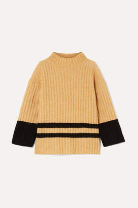 By Malene Birger Paprikana Striped Knitted Sweater - Camel
