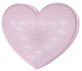 NoJo Lighted Room Heart Decorative Wall Sculpture Pink