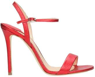 The Seller Laminated Red Leather Sandals