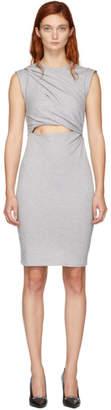 Alexander Wang Grey Shoulder Twist Dress